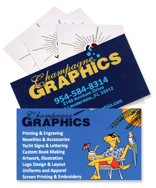 Business cards business yachts champagne graphics whether you require fast printed cards for emergency or promotional needs or highest quality brand and image concious results champagne graphics will work colourmoves